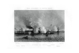 Battle of the 'Monitor' and the 'Merrimack, Hampton Roads, Virginia, 9 March 1862 (1862-186) Giclee Print by J Davies