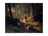 A Walk in a Forest, 1869 Giclee Print by Ivan Shishkin