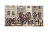 Bull and Mouth Street, City of London, 1825 Giclee Print by Isaac Robert Cruikshank