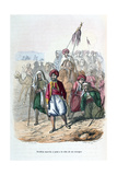 Ibrahim Pasha Marching at the Front of His Troops, 1811-1818 Giclee Print by Jean Adolphe Beauce