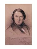 Robert Schumann, German Composer, Mid-19th Century Giclee Print by Jean Joseph Bonaventure Laurens