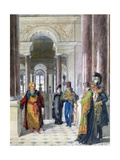 Exploring the Museum, 1817 Giclee Print by Jean-Baptiste Isabey