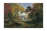 Couple on a Bridge, 1876 Giclee Print by Jasper Francis Cropsey