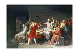 The Death of Socrates, 4th Century Bc Giclée-tryk af Jacques-Louis David