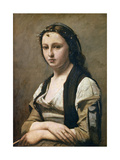 The Woman with the Pearl, C1842 Giclee Print by Jean-Baptiste-Camille Corot