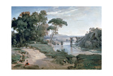 The Bridge at Narni, 1827 Giclee Print by Jean-Baptiste-Camille Corot