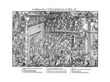 Massacre at Vassy, French Religious Wars, 1 March 1562 Giclee Print by Jacques Tortorel