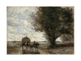 The Haycart, 1865-1870 Giclee Print by Jean-Baptiste-Camille Corot