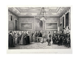 Lord Mayor, Sir William Magnay, Windsor Castle, Berkshire, 1844 Giclee Print by Jacques Francois Gauderique Llanta