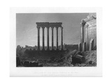 Pillars of the Great Temple at Balbec, 1841 Giclee Print by J Sands
