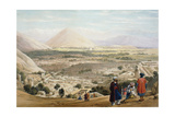 Kabul from the Citadel, Showing the Old Walled City, First Anglo-Afghan War 1838-1842 Giclee Print by James Atkinson