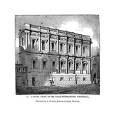 Eastern Front of the Banquetting House, Whitehall, 1843 Giclee Print by J Jackson