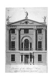 Front Elevation of the Society of Arts Building in John Adam Street, Westminster, London, C1770 Giclee Print by Isaac Taylor