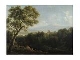 View of Frascati, 1820 Giclee Print by Jean Joseph Xavier Bidauld