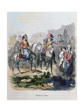 Battle of Nezib, 1839 Giclee Print by Jean Adolphe Beauce