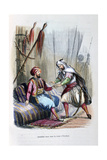 Abdullah Received in the Tent of Ibrahim Pasha, 1818 Giclee Print by Jean Adolphe Beauce