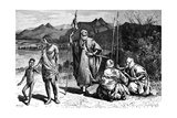 A Group of Tibbus, North Africa, 1895 Giclee Print by Ivan Pranishnikoff