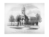View of St James' Church, West Hackney, London, C1825 Giclee Print by James Carter