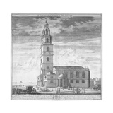 St Clement Danes Church, Westminster, London, C1719 Giclee Print by Johannes Kip