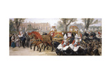 Royal Procession of the Carriage of the Prince and Princess of Wales, London, 1884 Giclee Print by John Gilbert