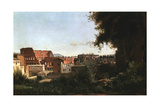 The Colosseum: View from the Farnese Gardens, Rome, 1826 Giclee Print by Jean-Baptiste-Camille Corot