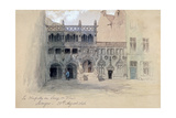 La Chapelle Du Sang De Dieu, Bruges, 1846 Giclee Print by John Gilbert