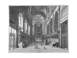 Interior View of St Paul's Cathedral, City of London, C1720 Giclee Print by Johannes Kip