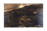 Landscape with Hunting Party, (1893) Giclee Print by John Gilbert