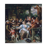 Merry Company on a Terrace, C1673-1675 Giclee Print by Jan Steen