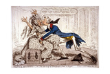 Political Ravishment, or the Old Lady of Threadneedle Street in Danger!, 1797 Giclee Print by James Gillray