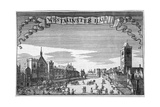 View of Westminster Hall and New Palace Yard, London, C1648 Giclee Print by John Seller