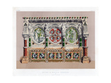Stone and Marble Reredos, 19th Century Giclee Print by John Burley Waring