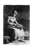 The Wool Carder, C1835-1875 Giclee Print by Jean Francois Millet