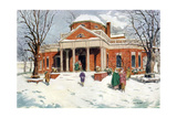 Monticello, Near Charlottesville, Virginia, USA, C18th Century Giclee Print by James Preston