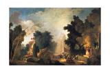 La Fete a St Cloud (A Celebration in St Cloud), C1775-1780 Reproduction procédé giclée par Jean-Honore Fragonard