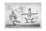 Elements of Skateing. Attitude! Attitude Is Every Thing!, 1805 Giclee Print by James Gillray