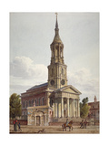 St Leonard's Church, Shoreditch, London, 1811 Giclee Print by John Coney