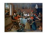 The Merry Family, 1668 Impression giclée par Jan Steen