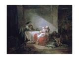 Interior Scene, Late 18th Century Reproduction procédé giclée par Jean-Honore Fragonard