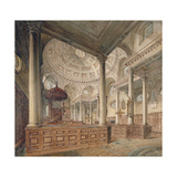 Interior View of the Church of St Stephen Walbrook, City of London, 1811 Giclee Print by John Coney