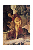 The Apostle Philip Baptizing the Eunuch, Detail, 16th Century Giclee Print by Jan van Scorel