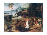 Landscape Scene with Saint Roch, C1500-1524 Giclee Print by Joachim Patinir