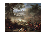 The Battle of Lesnaya, 1717 Giclee Print by Jean-Marc Nattier