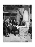 Charles II Visiting Sir Christopher Wren During the Building of St Paul's Cathedral, London, 1909 Giclee Print by John Seymour Lucas