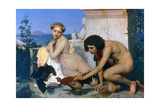 Young Greeks Encouraging Cocks to Fight, 1846 Giclee Print by Jean-Leon Gerome