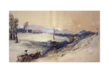 Landscape with Horse and Cart, 1883 Giclee Print by John Gilbert