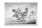 Elements of Skateing. the Consequence of Going before the Wind, 1805 Giclee Print by James Gillray