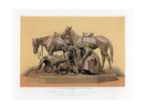 Hunting Group in Bronze, 19th Century Giclee Print by John Burley Waring
