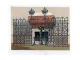 Wrought Iron Grilles, 19th Century Giclee Print by John Burley Waring