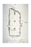 Plan of Vaulting in St Michael's Crypt, Aldgate, London, 1784 Giclee Print by John Carter